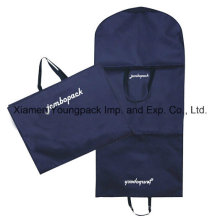 Navy Blue Custom Non-Woven Cloth Handle Suit Cover