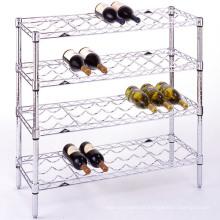 DIY decorativos funky prateleira de metal vinho rack, aprovação NSF