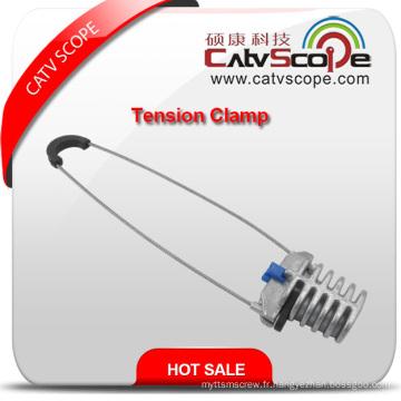 Pince d'ancrage de pince de tension de câble de fibre optique de haute qualité Csp07-520 ADSS
