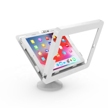 Countertop tablet stand with lock, support vesa mounting, tilts enclosure stand for ipad