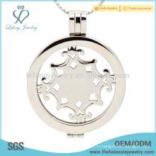 Ювелирные изделия из медальона с круглым окном, поставляет монеты медальоны