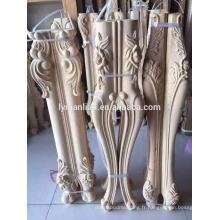 Pied de table en bois sculpté à la main