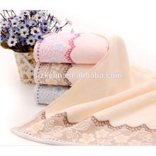 agradable diseño dobby toalla de algodón barato facial