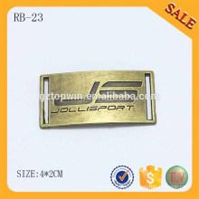RB23 logo personnalisé gravé étiquette métallique à coudre pour casquettes chapeaux ou vêtement