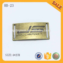 RB23 Custom logo engraved Sewing Metal Label for Caps Hats or Garment