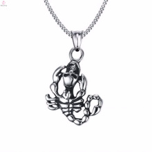 Hot Sell Mens Centipede Engraved Stainless Steel Pendant Jewelry