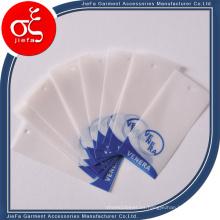 Etiqueta colgante personalizada del papel de pergamino / etiquetas transparentes coloreadas del oscilación del papel de calco