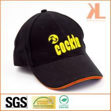 Heavy Brushed Cotton Twill Baseball Cap with Sandwich Peak