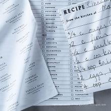 haute qualité impression menu carré cuisine serviette torchon TT-018