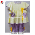hand embroidered suit dress white&purple 2 pieces