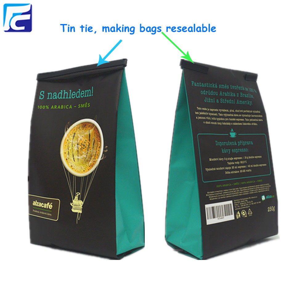 Matt Black Coffee Bag