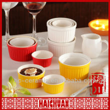 Ceramic color ramekin, wholesale ramekin pan