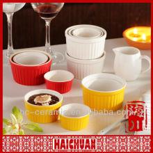 Керамический цветной рамекин, оптовая сковорода