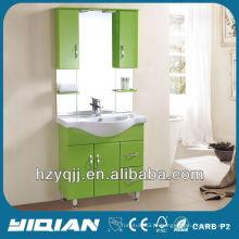 Design simples iraquiano e turco Pavimento montado no chão Light Blue Gabinete de banheiro Impermeável PVC Vanité de banheiro