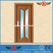 JK-P9218 Brazil Style White Laminated Glass Doors for Kitchen Cabinet