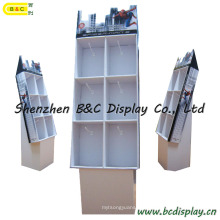 Floor Cardboard Displays with Hooks, Customized Newest Recyclable Pop Cardboard Display with Hooks (B&C-B035)