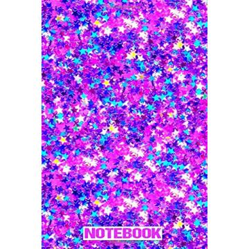PURPLE STAR GLITTER NOTEBOOK-0