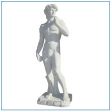 Nature Stone Life Size White Marble David Statues