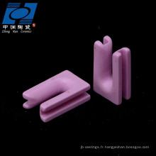 pièces textiles en céramique rose