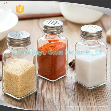 Garrafa de vidro para sal pimenta tempero tempero, shakers sal pimenta churrasco condimento garrafas