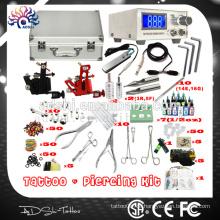 Tragbare und praktische professionelle Piercing Tattoo Maschine Kit & Piercing Pistole & Schmuck Werkzeug-Kit