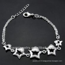 Vente chaude Mode 925 bracelets en argent pour fille 2013 BSS-020