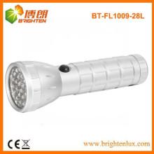 Fabrik Versorgung Gute Qualität Günstige Preis Aluminium Metall 28 Kleine LED-Taschenlampe mit 3aaa Batterie