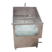 High quality 304 stainless steel pet medical bath sink without door with spa function