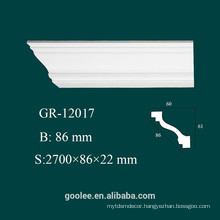 Factory Price Indoor and Outdoor Decorative PU Plain Cornice Mouldings for Modern Construction