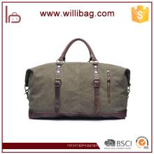 Vente chaude Vintage en cuir véritable sacs en toile Duffel (petite taille)