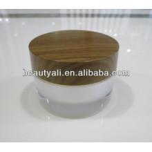 Double Wall Acrylic Wooden Jar 2ml 5ml 10ml 15ml 30ml 50ml 100ml