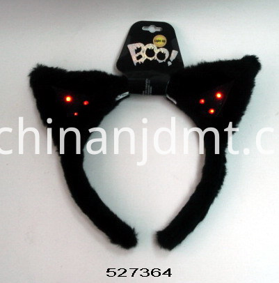 Black headband with light