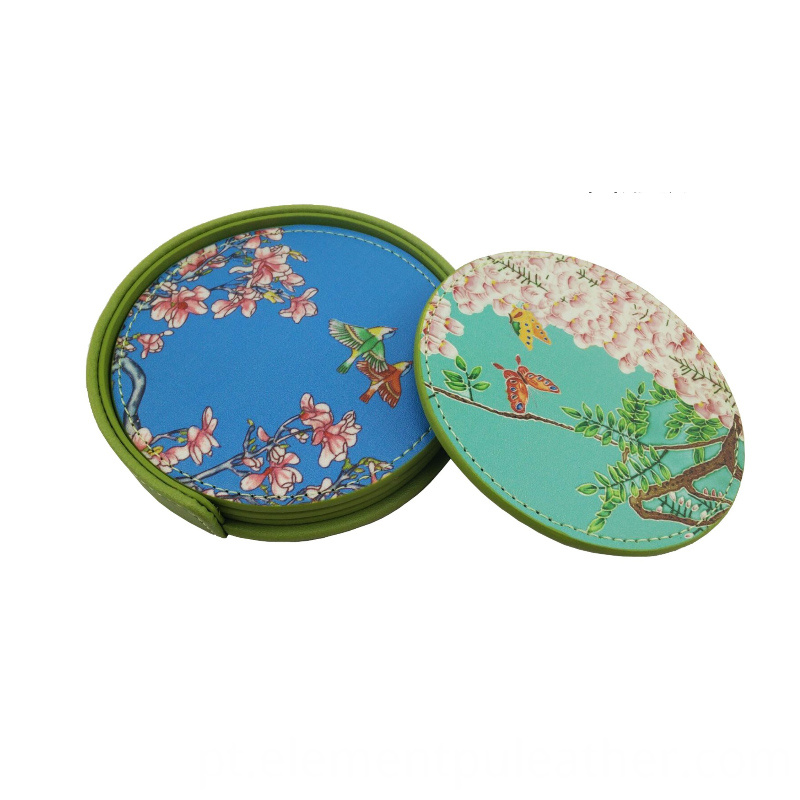 PU Leather Faux For Tea Coaster