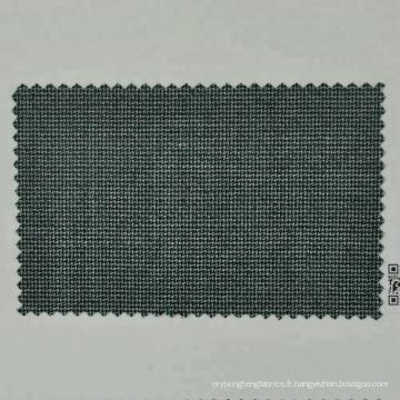 Tissu en laine mérinos peignée vert et bleu foncé pour un costume sur mesure