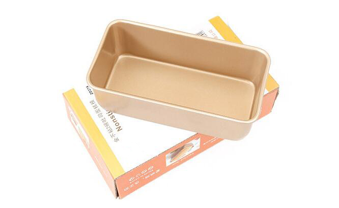 9'Golden Non-stick Rectangular Cake Mold (14)