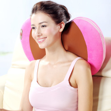 Shiatsu neck and back massage pillow with heat