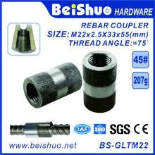 Hochleistungs-Stahlhülsen, die Bewehrungsstangenkupplungen verstärken