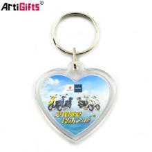 Wholesale clear plastic custom printed acrylic keychain
