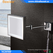Bathroom Square Glossy LED Mirror with Single Side