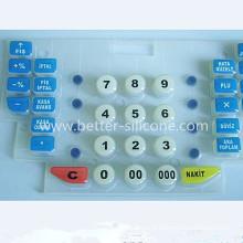Interruptor de borracha de silicone personalizado com tratamento de superfície epóxi