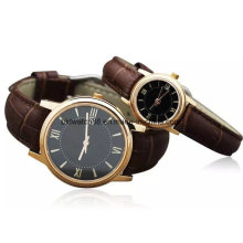 Fashion Stainless Steel Couple Watch with Leather Band