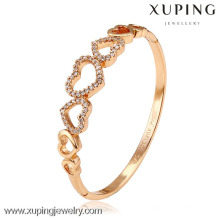 51139 Xuping nueva joyería de latón de verano brillante brazalete de cristal