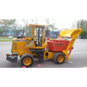 Self-loading Millstone Type Concrete Tractor Mixer