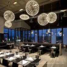 Современный теплый дизайн на заказ, привлекательная кофейня, светодиодная люстра, подвесной светильник
