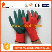 Rotes Nylon mit grünem Nitril-Handschuh-Dnn453