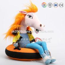peluche de felpa y animal de peluche personalizado, gran caballo de peluche, juguetes hobbyhorse