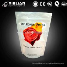 Pet / al / pe personalizado de impresión de bolsas de embalaje de café con válvula