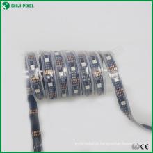 5 v 32 LEDs / m dmx multiclor 3 m levou tiras de luz à prova d 'água branco & preto PCB