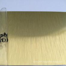 Gold Brushed Coated Aluminum Coil Sheet