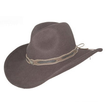2017 New Fashion Cowboy Felt Hat with Customized Belt (CW0010)